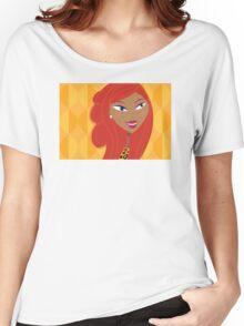 Luxury Girl as Lion inspired Girls illustration Women's Relaxed Fit T-Shirt