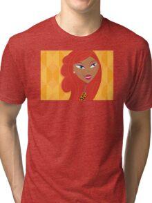 Luxury Girl as Lion inspired Girls illustration Tri-blend T-Shirt