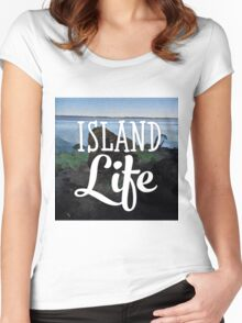 Island Life Women's Fitted Scoop T-Shirt