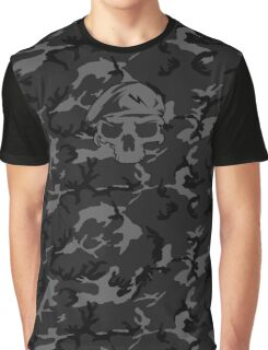 Camo Special Force Skull 2 Graphic T-Shirt