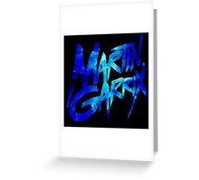 Martin Garrix Blue Effect Greeting Card