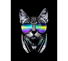 Cat Music Lovers Photographic Print