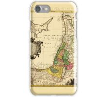 Map Of Palestine 1790 iPhone Case/Skin