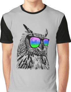 Cool Owl 1 Graphic T-Shirt