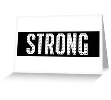 Strong By Zumba  Greeting Card