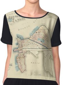 Map Of Boston 1837 Chiffon Top