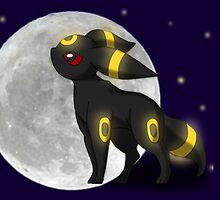 Umbreon with the Moon Pokemon by MysticSanctuary