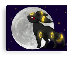 Umbreon with the Moon Pokemon Canvas Print