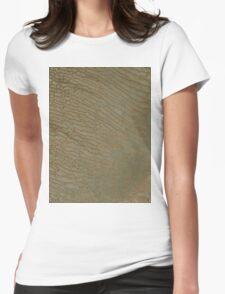 Sand Dunes in Rub al Khali Desert Saudi Arabia Satellite Image Womens Fitted T-Shirt