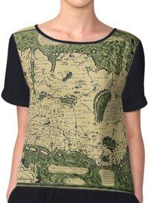 Map Of Ireland 1598 Chiffon Top