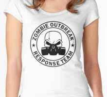 Zombie Outbreak Response Team gas mask Women's Fitted Scoop T-Shirt