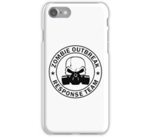 Zombie Outbreak Response Team gas mask iPhone Case/Skin