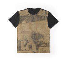 Map Of Oyster Bay 1778 Graphic T-Shirt
