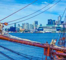 Ships Ahoy at Docklands Sticker