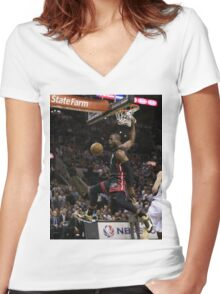 hd sports artwork Women's Fitted V-Neck T-Shirt