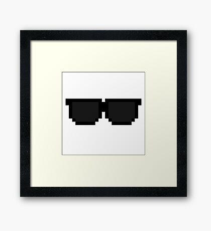 Pixel Sunglasses Framed Print