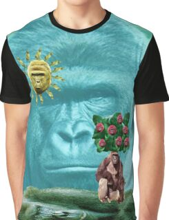 Harambe Portrait Tree Graphic T-Shirt