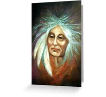 INDIAN ELDER Greeting Card
