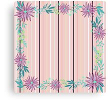 girly,floral,flowers,striped pattern,modern,trendy,elegant chic Canvas Print