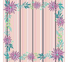 girly,floral,flowers,striped pattern,modern,trendy,elegant chic Photographic Print