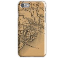 Map Of St Helena Sound 1881 iPhone Case/Skin