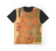 Map Of Yellowstone 1878 Graphic T-Shirt