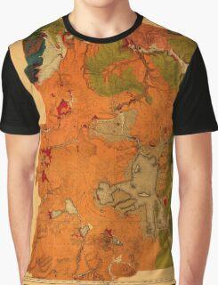 Map Of Yellowstone 1878 Graphic T-Shirt