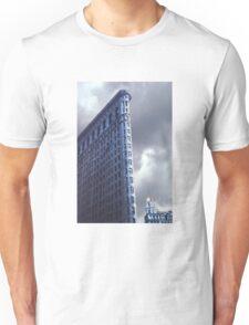Blue Glow Flatiron Building Unisex T-Shirt