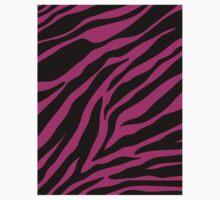 pink zebra  Kids Tee