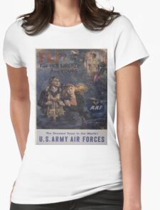 Vintage poster - Air Forces Womens Fitted T-Shirt