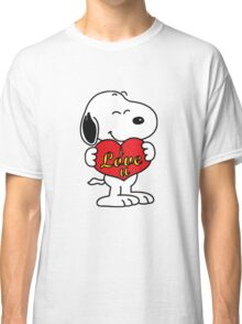 Snoopy love Classic T-Shirt