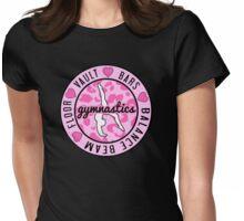 Pink Gymnastics Logo Womens Fitted T-Shirt