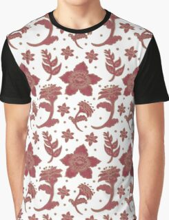 Batik Flowers Graphic T-Shirt