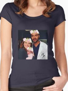 Japril Family - Grey's Anatomy Women's Fitted Scoop T-Shirt