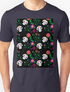 black Sugar Skull Unisex T-Shirt