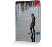 Her Reflections card Greeting Card