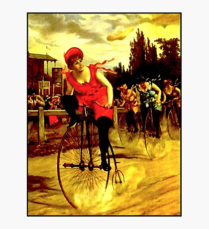 BICYCLE RACING; Vintage Womens Grand Prix Print Photographic Print