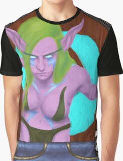 Female Druid in the Hearthstone Style Graphic T-Shirt