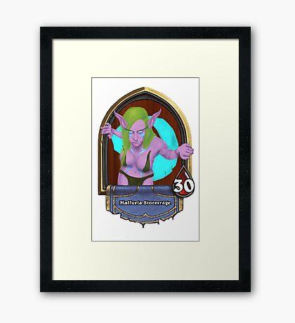 Female Druid in the Hearthstone Style Framed Print