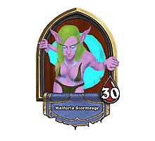 Female Druid in the Hearthstone Style Photographic Print