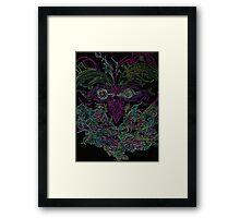 Tiki Head Framed Print