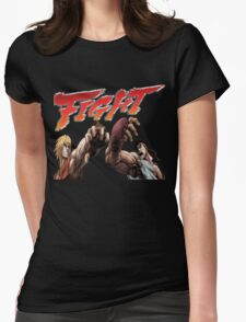 Ken Vs. Ryu - Fight Womens Fitted T-Shirt