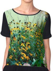Sunflowers by the Sidewalk Chiffon Top