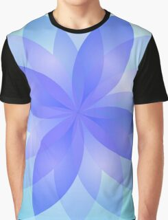 Abstract Lotus Flower Graphic T-Shirt
