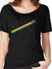 Flying Nyan's Pixel Cat Women's Relaxed Fit T-Shirt