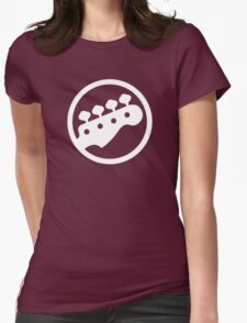 Bass Headstock Womens Fitted T-Shirt