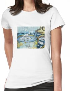 Arctic Teacup Womens Fitted T-Shirt