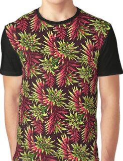 Fasciata Tropical Floral - Green Pink Graphic T-Shirt