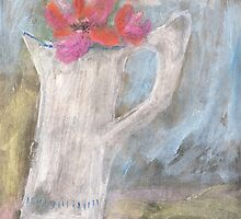 The dented old jug in a sunny spot by Tine  Wiggens