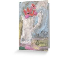 The dented old jug in a sunny spot Greeting Card